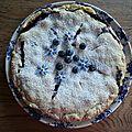 Tourte aux myrtilles - blueberry pie