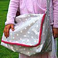 le sac en tissu enduit à étoiles
