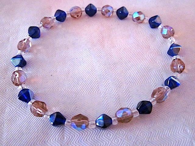 bracelet perles et toupies swarowski