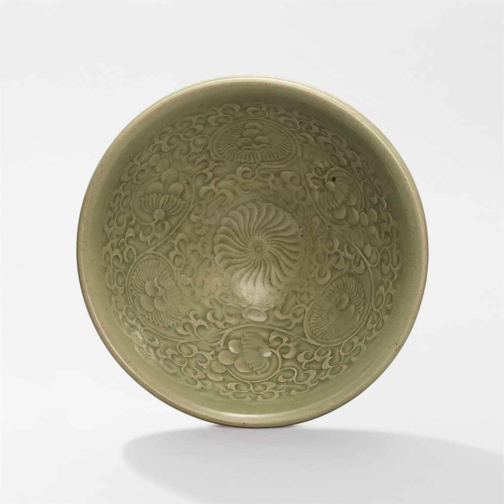 A large Yaozhou moulded 'chrysanthemum' bowl, Northern Song dynasty (960-1127)