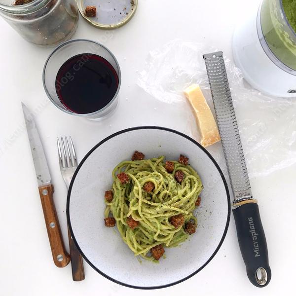 petits pois sauce spaghetti 001 LE MIAM MIAM BLOG