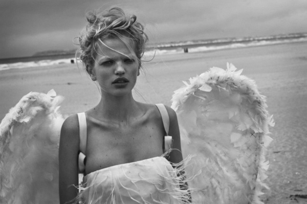 Daphne Groeneveld by Peter Lindbergh for Numéro #126, L'ange 09