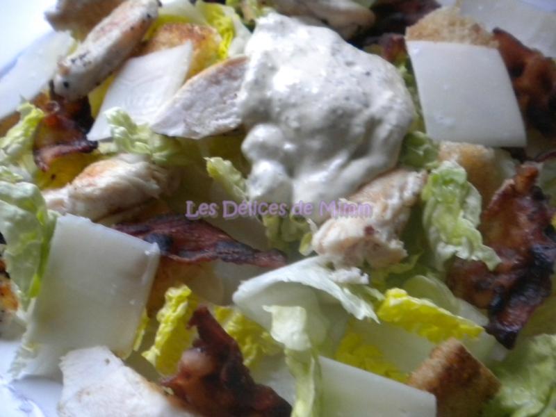 Salade César et sa sauce vinaigrette 3