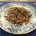 Taboulé maghrébin menthe et persil dit « à l'orientale »