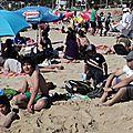 Los scouts en la playa del quisco