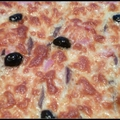 Pizza jambon anchois