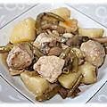 Sauté de porc aux champignons et pommes de terre