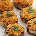 Champignons farcis au potiron et au quinoa