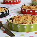 Crumble abricots & figues à la rose