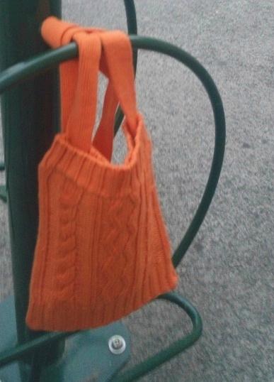 sac tricot torsades