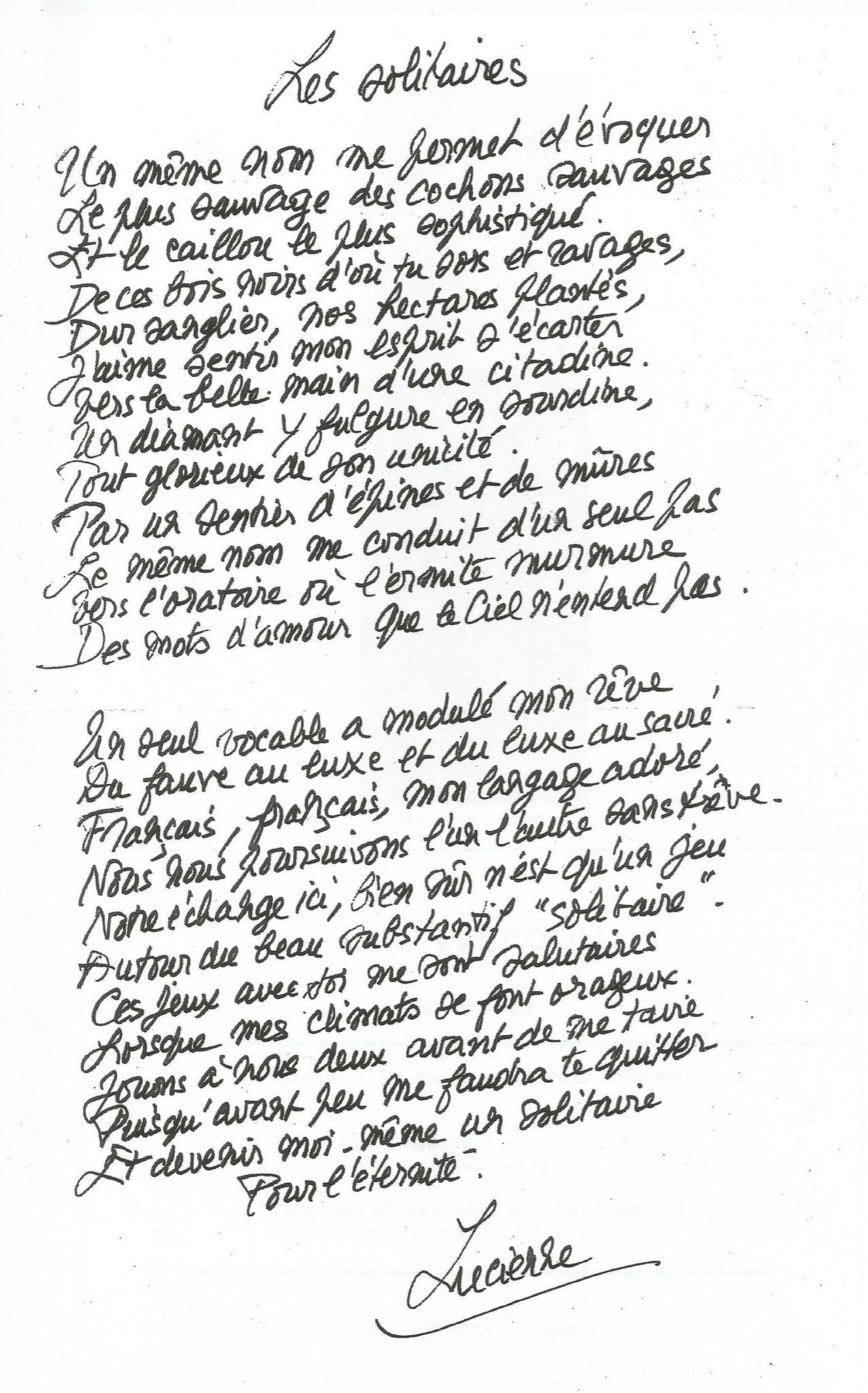 Lucienne Desnoues : Les solitaires.