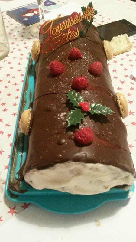 buche chantilly framboise