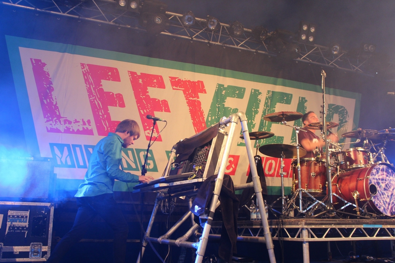 Glastonbury festival samedi 27 juin 2015 Enter Shikari Left field stage