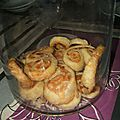 Palmiers feuilletes tomate et fromage