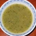 Soupe de courgette au basilic cannelle