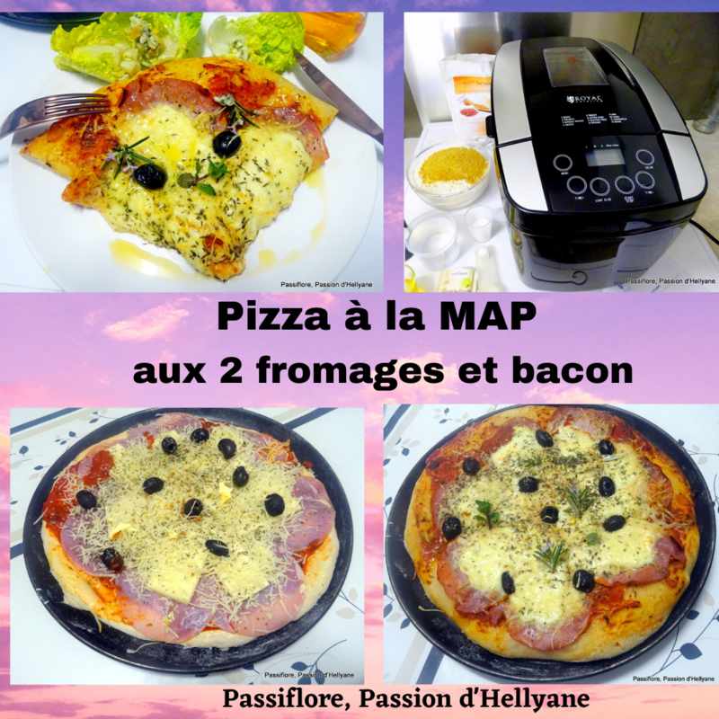 Pizza à la map aux 2 fromages et bacon