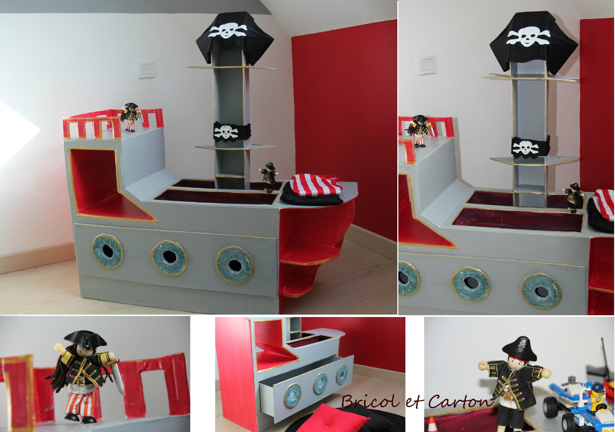 Table De Chevet Pirate meuble pirate en carton { diy} - bricol et carton