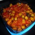 Fricassée de céleri aux olives