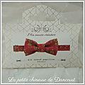 Kit noeud papillon rouge la petite chineuse de dancourt