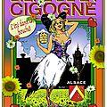 Artiste Francis Keller étiquette bière de la cigogne été 1