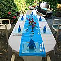Table bleu vif