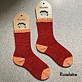 Tricot: des chaussettes tricotées en gaïa de bynight créations