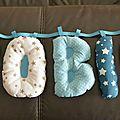 Lettres en tissu déco chambre bébé