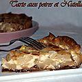 Tarte aux poires et nutella