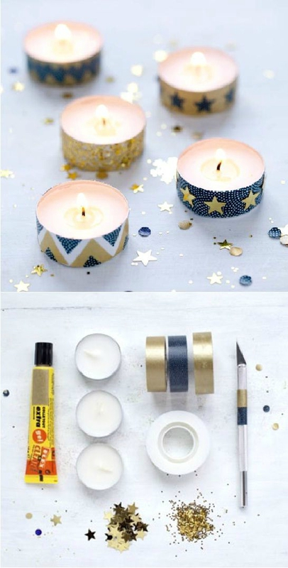 diy masking tape bougie noel