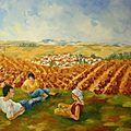 Pause dans les vignes
