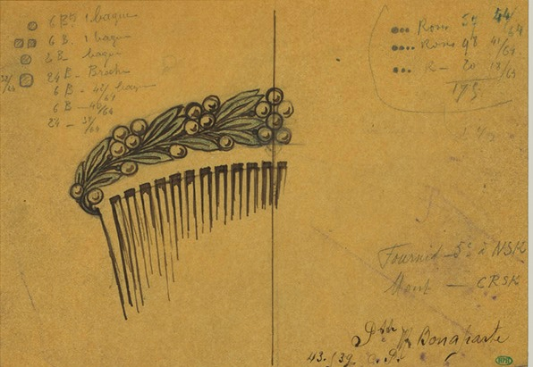 C-0215 CARTIER - hair comb for Princess Marie Bonaparte