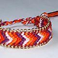 Bracelet Brésilien et chaîne dorée