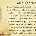 Leçon de karma