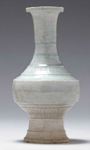 A Qingbai molded baluster vase, Song-Yuan dynasty, 13th century