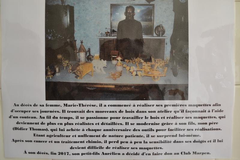 monsieur yves thomas à la Maison du patrimoine de Tusson
