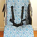 Assises de poussette en liberty liberty emma and