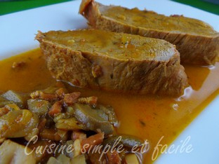 Piece De Veau Sauce Moutarde Et Tomates Cuisine Simple Et Facile
