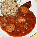Boulettes de boeuf sauce forestière à la tomate