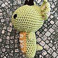 Petit dragon pour Quentin de profil