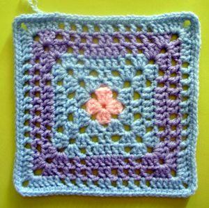 200 carrés crochet Charme pastel