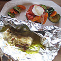 Papillote de caillaud au curry
