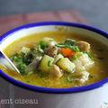 Soupe piquante au poulet et à la