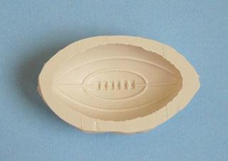 moule silicone gros ballon rugby détails