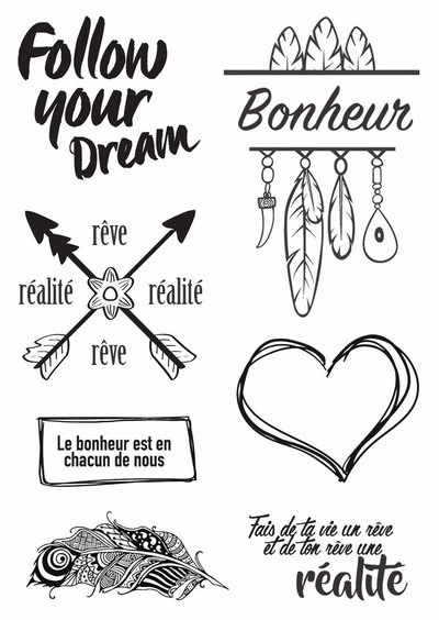 Lorelai Design Follow Your Dreams Reve Tampon clear