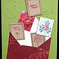 30. vert, rouge et kraft - envolée de timbres