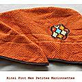 turban bain orange
