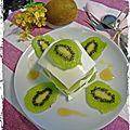 Mille feuilles de kiwi et fromage frais - mil hojas de kiwi y queso fresco