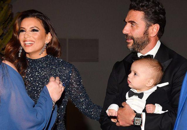 Cannes-2019-Eva-Longoria-et-son-fils-Santiago-en-smoking-au-Global-Gift-Gala
