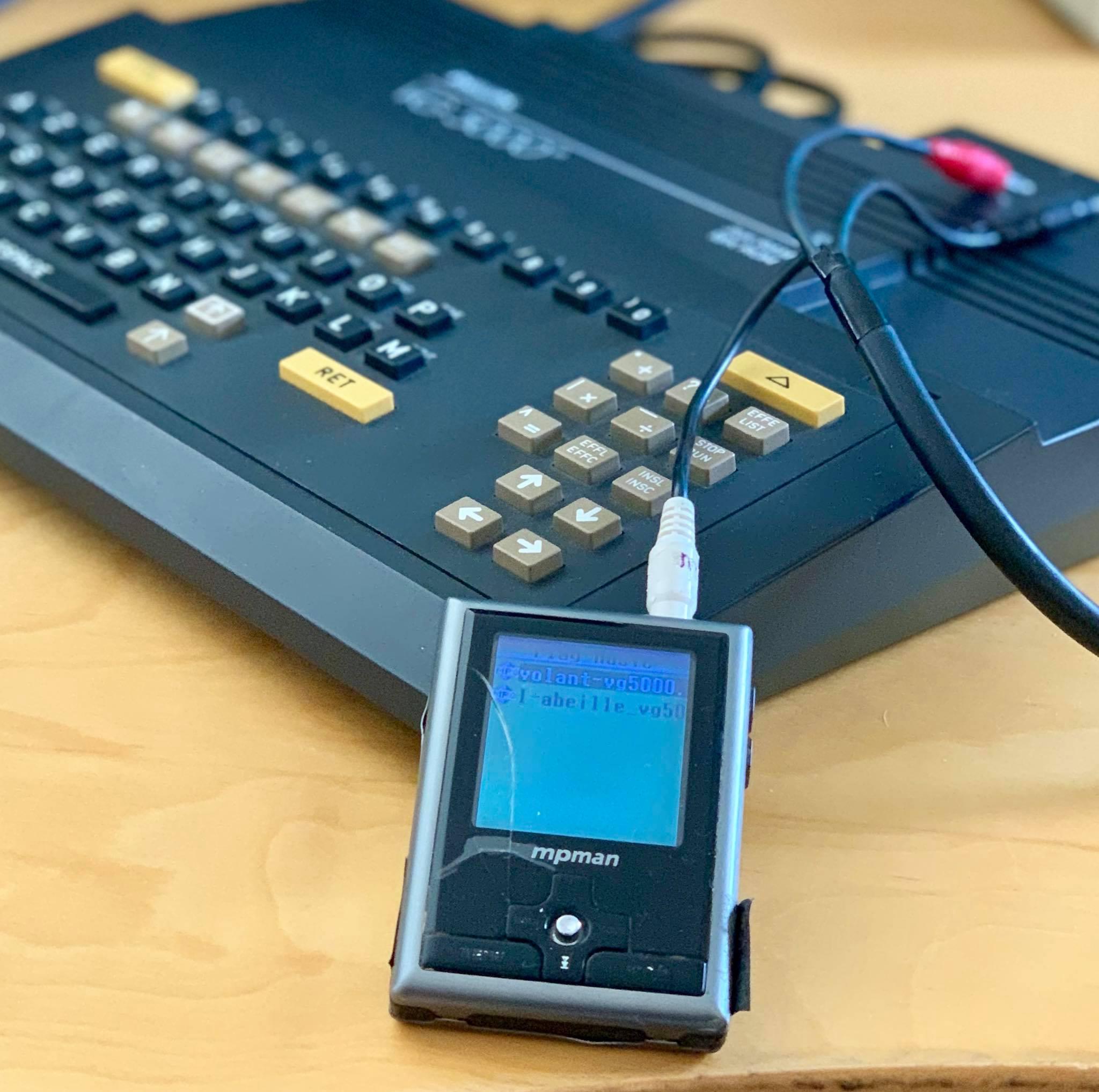 Mon VG5000 aime les MP3