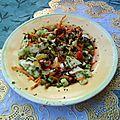 Salade croquante de crudités à la vinaigrette au